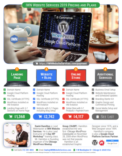 IWN Website Services 2019 Plans and Pricing